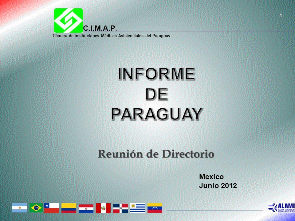 1 Reunión de Directorio C.I.M.A.P. Cámara de Instituciones Médicas Asistenciales del Paraguay Mexico Junio 2012