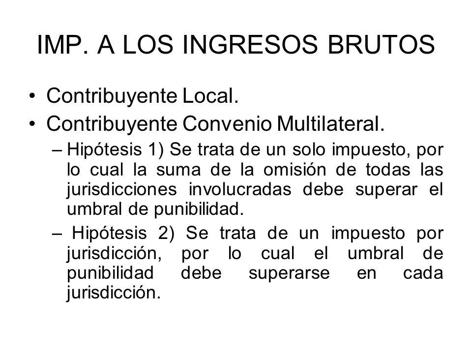 IMP.A LOS INGRESOS BRUTOS Contribuyente Local. Contribuyente Convenio Multilateral.