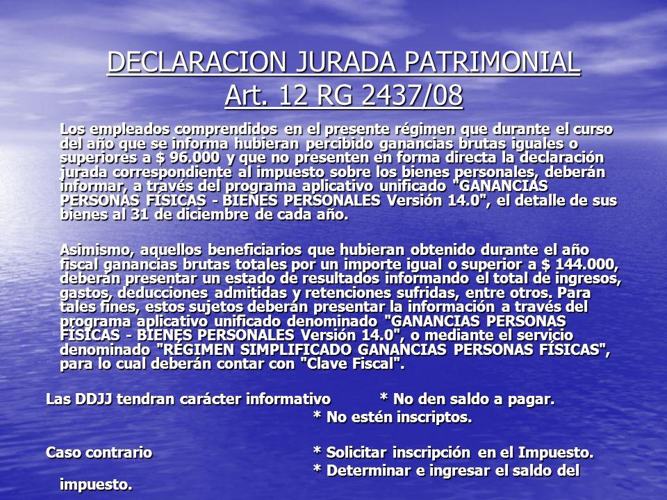 DECLARACION JURADA PATRIMONIAL Art.
