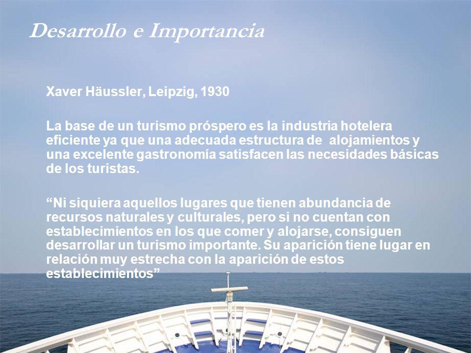 Desarrollo e Importancia Es indiscutible que los hoteles constituyen uno de los elementos más importantes de la industria turística de un país.