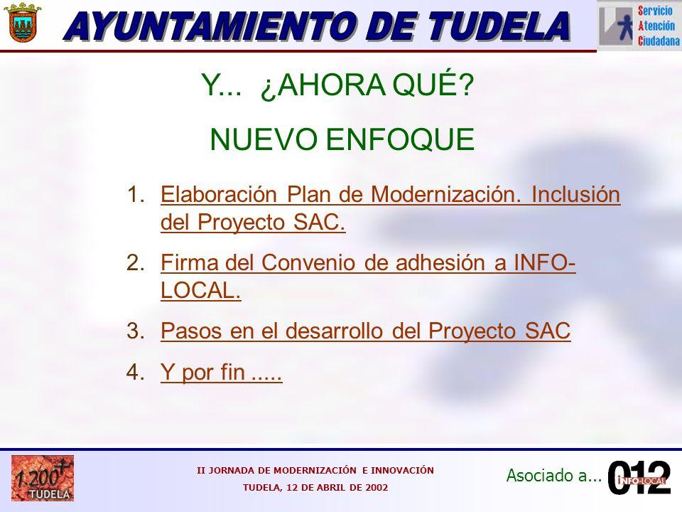 Asociado a... II JORNADA DE MODERNIZACIÓN E INNOVACIÓN TUDELA, 12 DE ABRIL DE 2002 Y...