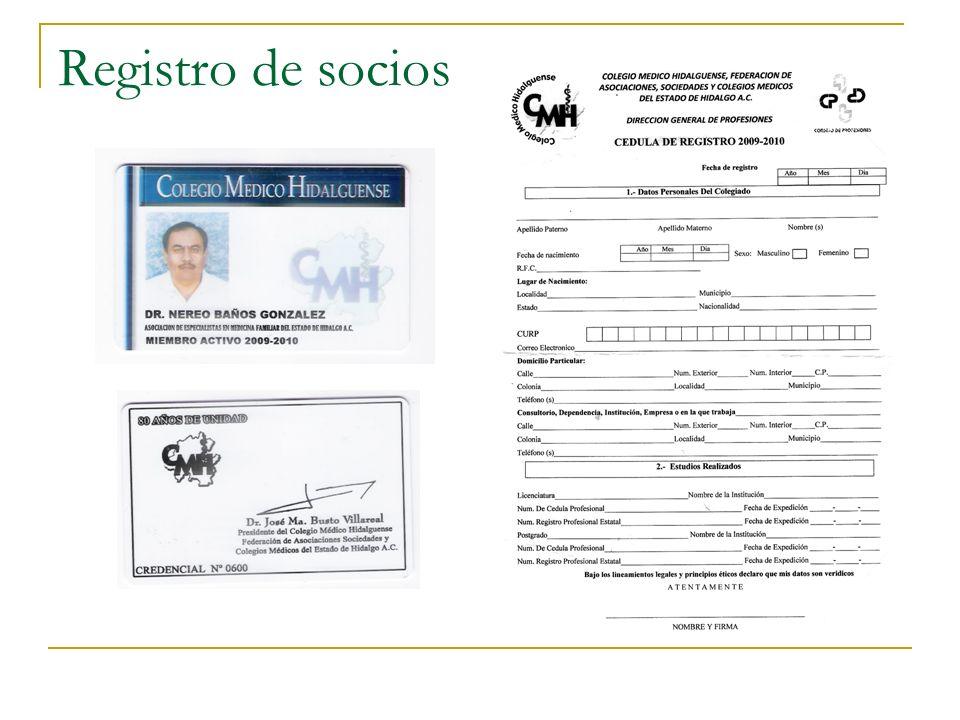 Registro de socios