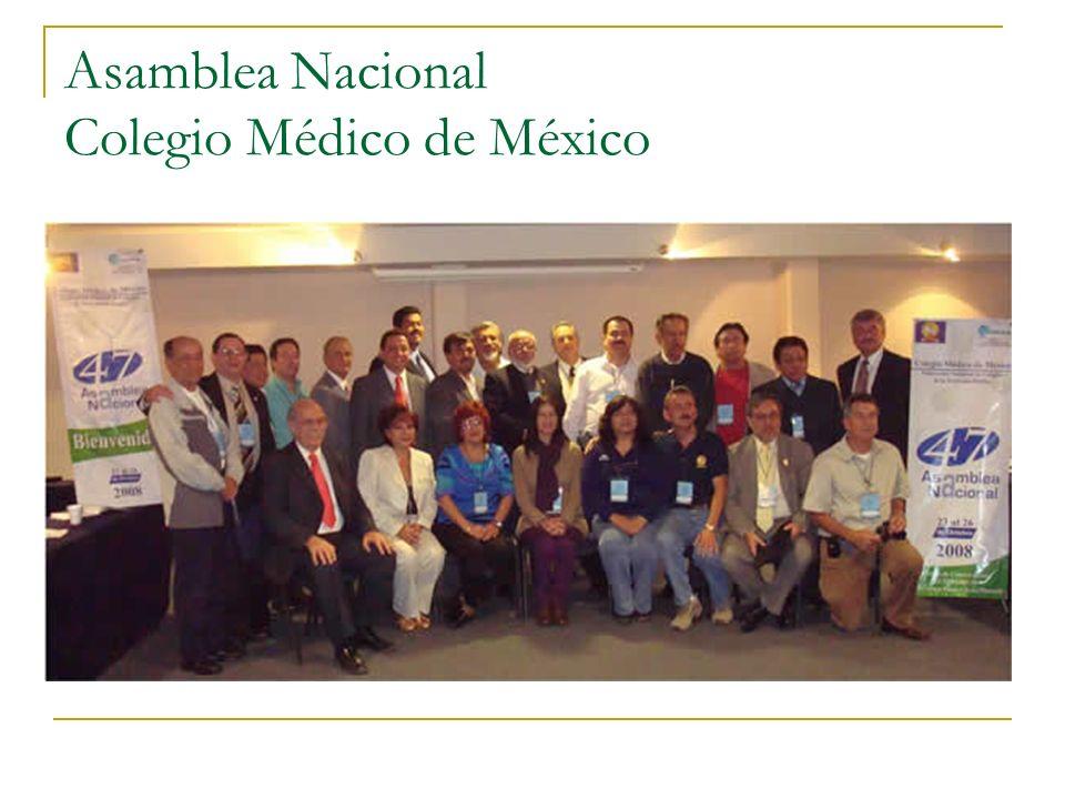 Asamblea Nacional Colegio Médico de México