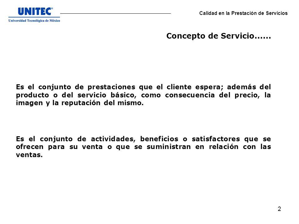 13 Calidad en la Prestación de Servicios 13.- Personales.