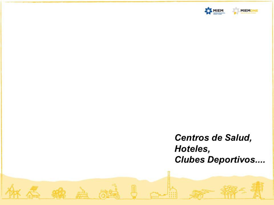 Centros de Salud, Hoteles, Clubes Deportivos....