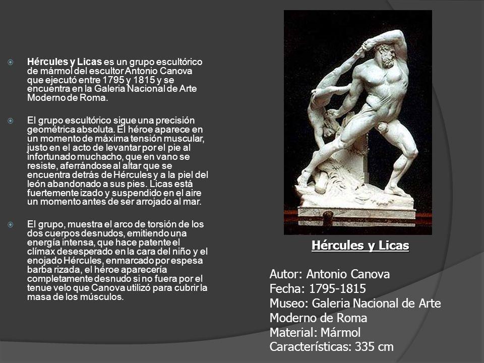 Hércules y Licas es un grupo escultórico de mármol del escultor Antonio Canova que ejecutó entre 1795 y 1815 y se encuentra en la Galeria Nacional de