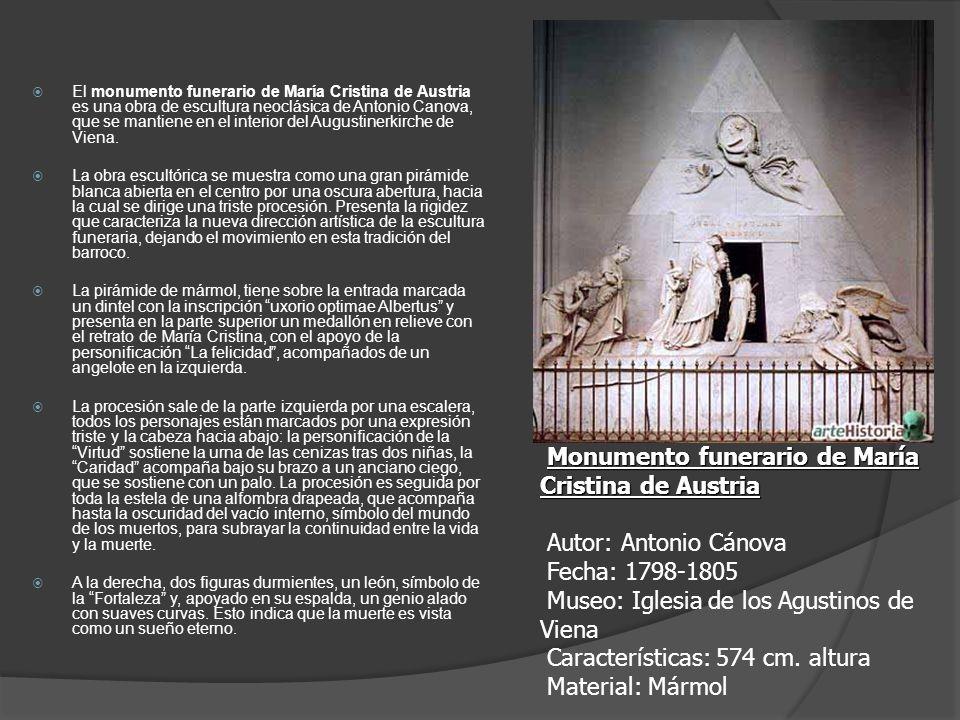 El monumento funerario de María Cristina de Austria es una obra de escultura neoclásica de Antonio Canova, que se mantiene en el interior del Augustin