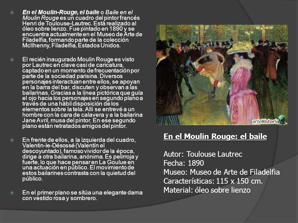 En el Moulin-Rouge, el baile o Baile en el Moulin Rouge es un cuadro del pintor francés Henri de Toulouse-Lautrec. Está realizado al óleo sobre lienzo