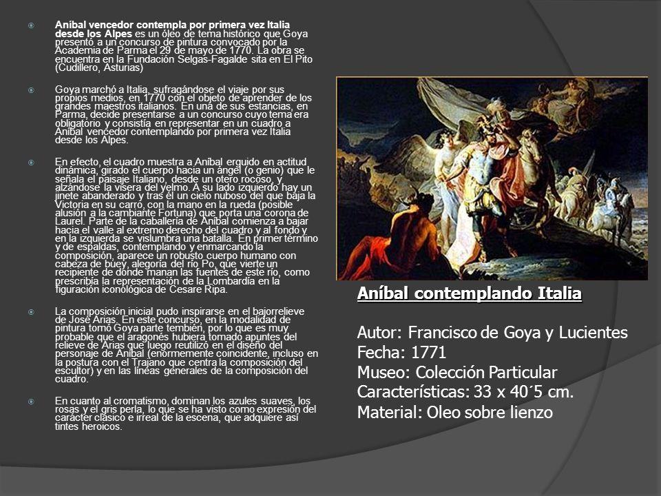 Aníbal vencedor contempla por primera vez Italia desde los Alpes es un óleo de tema histórico que Goya presentó a un concurso de pintura convocado por