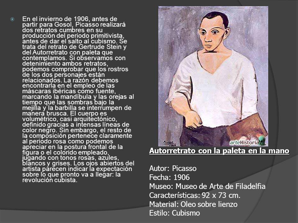 En el invierno de 1906, antes de partir para Gosol, Picasso realizará dos retratos cumbres en su producción del periodo primitivista, antes de dar el