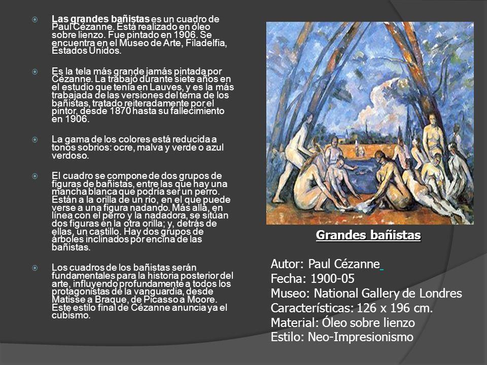 Las grandes bañistas es un cuadro de Paul Cézanne. Está realizado en óleo sobre lienzo. Fue pintado en 1906. Se encuentra en el Museo de Arte, Filadel