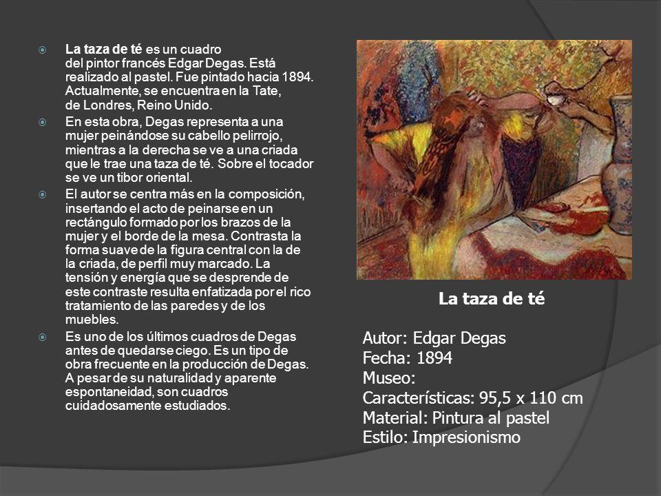 La taza de té es un cuadro del pintor francés Edgar Degas. Está realizado al pastel. Fue pintado hacia 1894. Actualmente, se encuentra en la Tate, de