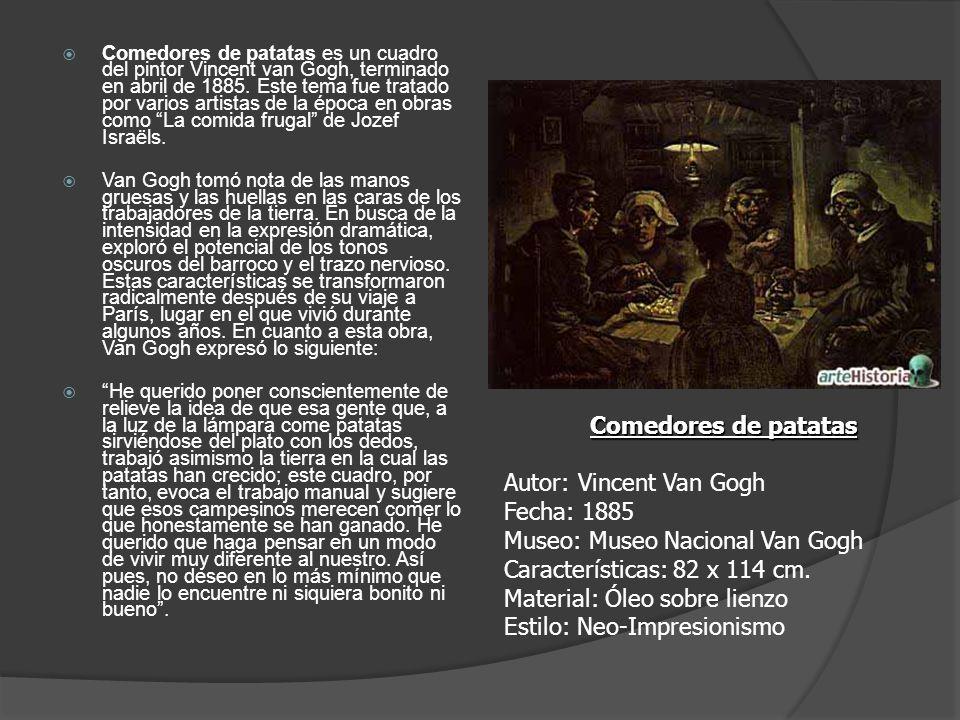 Comedores de patatas es un cuadro del pintor Vincent van Gogh, terminado en abril de 1885. Este tema fue tratado por varios artistas de la época en ob