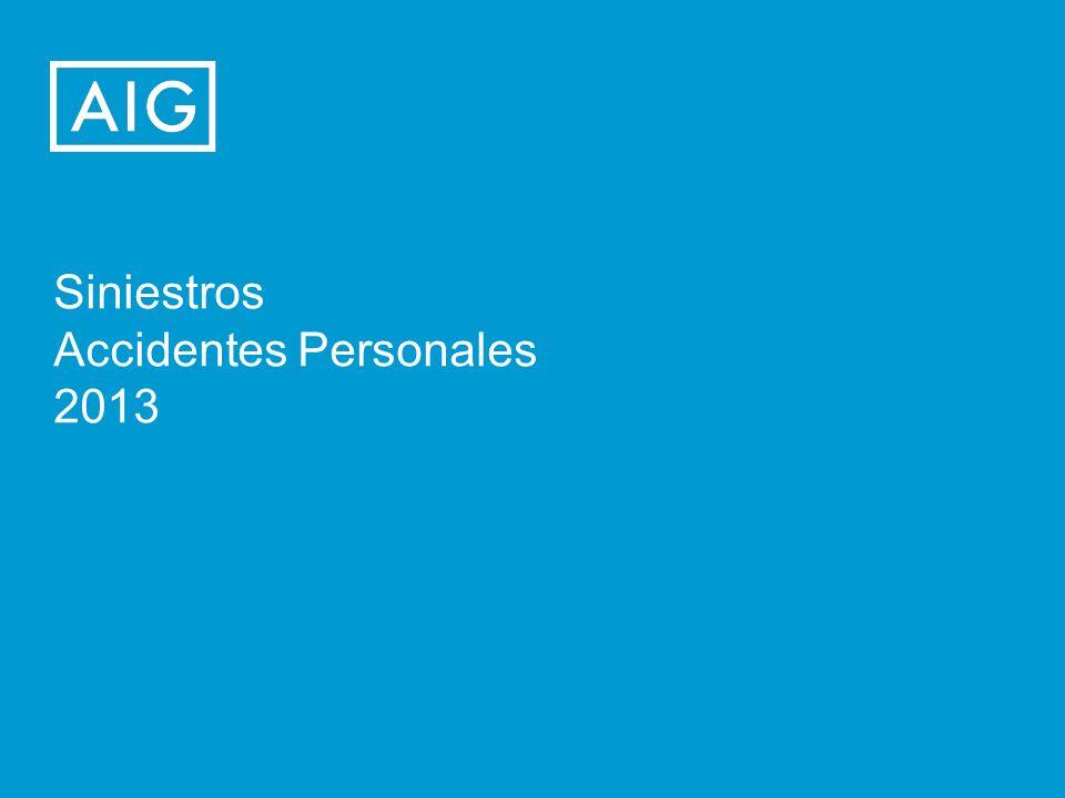 Siniestros Accidentes Personales 2013