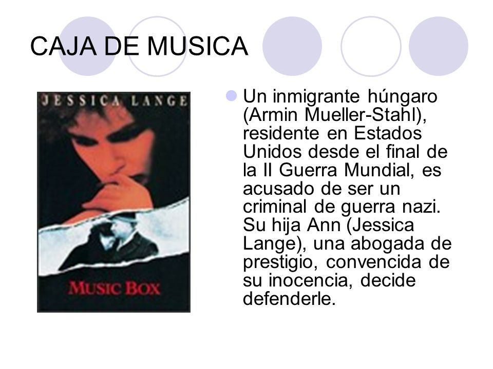 CAJA DE MUSICA Un inmigrante húngaro (Armin Mueller-Stahl), residente en Estados Unidos desde el final de la II Guerra Mundial, es acusado de ser un c