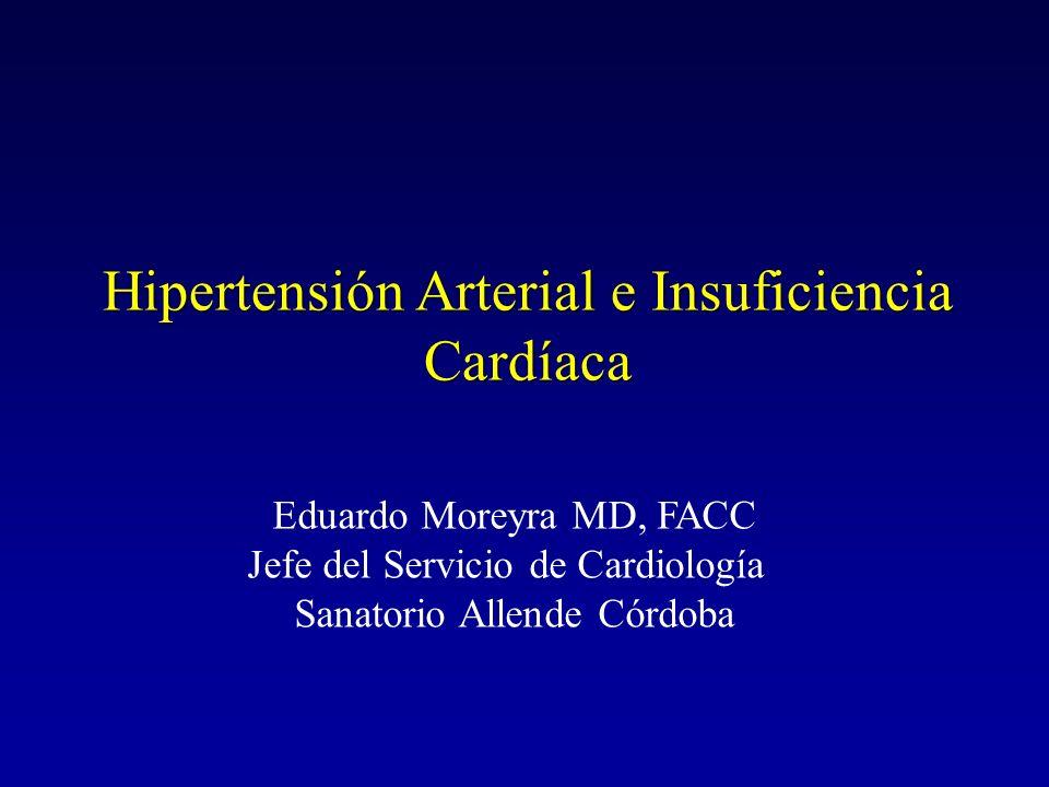 Puntos a discutir ¿ Cuál es el impacto de HTA en la prevalencia de IC .