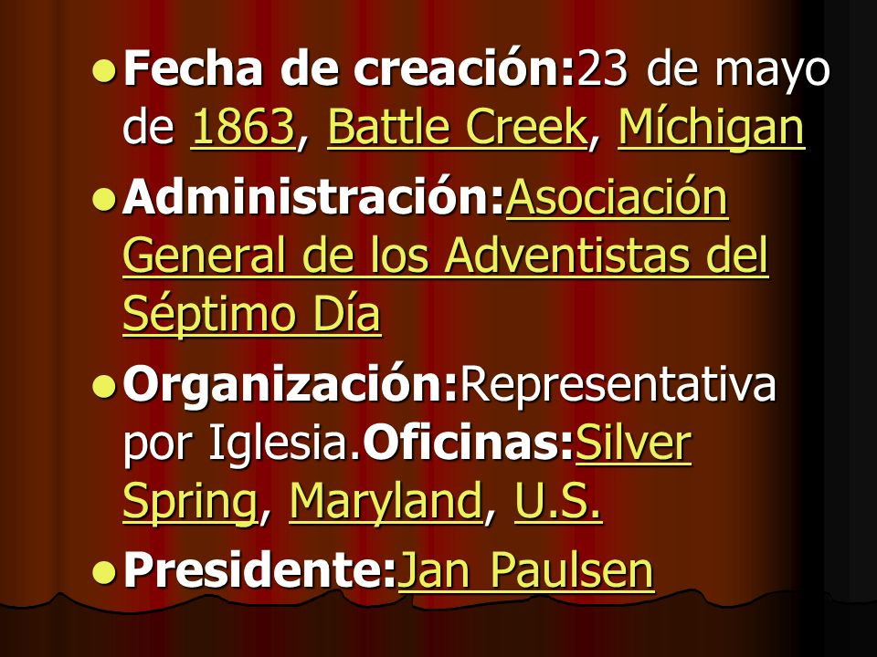 Fecha de creación:23 de mayo de 1863, Battle Creek, Míchigan Fecha de creación:23 de mayo de 1863, Battle Creek, Míchigan1863Battle CreekMíchigan1863B