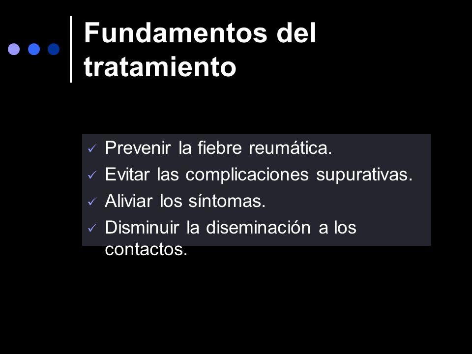 FA estreptocóccica en la Argentina Predicción clínica de la infección El examen clínico no permite predecir la etiología estreptocóccica. El rash esca