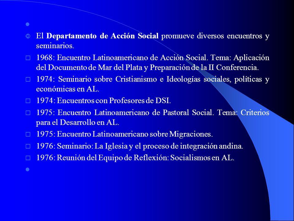 Congresos Latinoamericanos de Cáritas: Congresos Latinoamericanos de Cáritas: o 1964: Santiago de Chile.