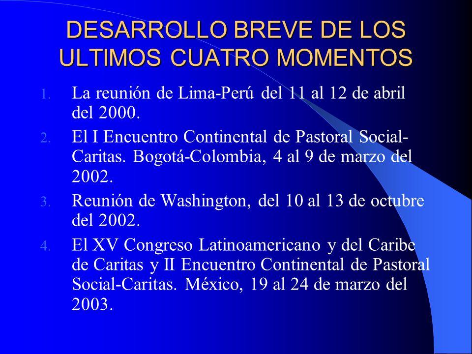 DESARROLLO HISTORICO DEL PROCESO DE RÍO DE JANEIRO AL CONCILIO VATICANO II (1955 – 1961): La misión social de la Iglesia entendida como Acción y Asistencia Social DEL CONCILIO (1962) Y MEDELLÍN (1968) A PUEBLA (1979) Promoción Social y Liberación integral DE PUEBLA (1979) A SANTO DOMINGO (1992) Una Pastoral Social Evangelizada y Evangelizadora.