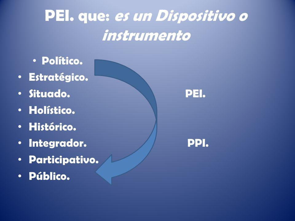 PEI.que: es un Dispositivo o instrumento Político.