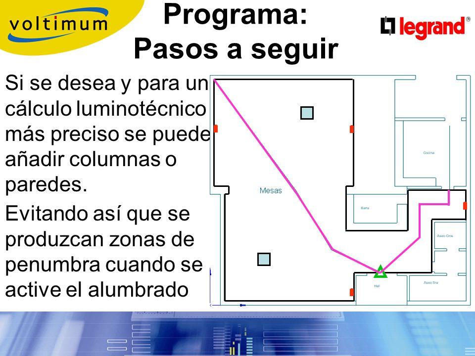 Programa: Pasos a seguir Rutas de evacuación Salidas y Salidas de emergencia Extintores Mangueras de incendio Cuadros de distribución Según proyecto de instalación marcar: