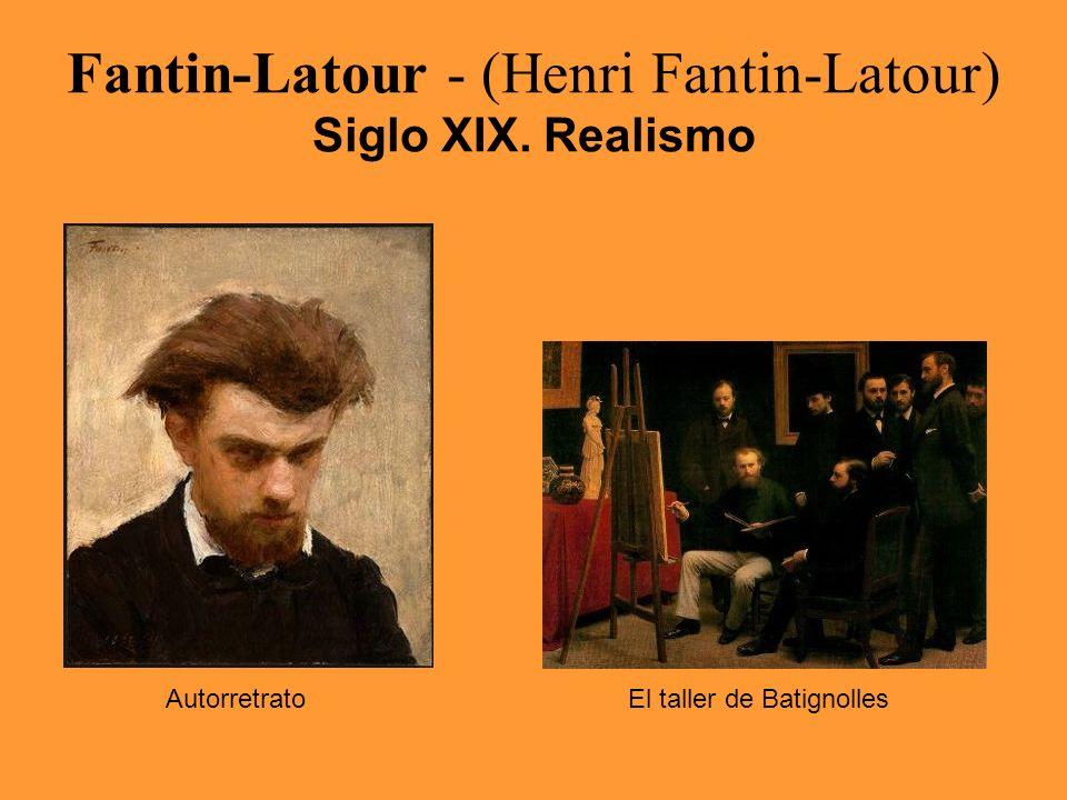 Fantin-Latour - (Henri Fantin-Latour) Siglo XIX. Realismo AutorretratoEl taller de Batignolles