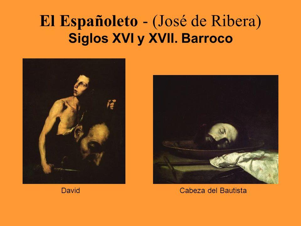 El Españoleto - (José de Ribera) Siglos XVI y XVII. Barroco DavidCabeza del Bautista