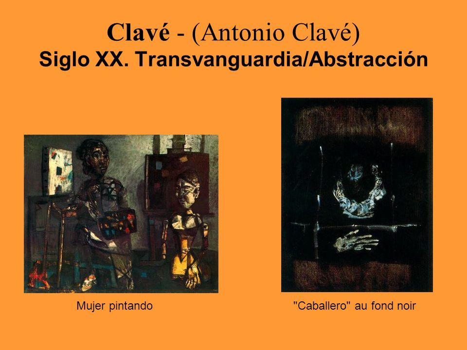 Clavé - (Antonio Clavé) Siglo XX. Transvanguardia/Abstracción Mujer pintando