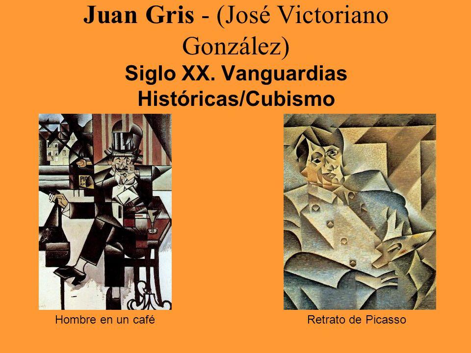 Juan Gris - (José Victoriano González) Siglo XX. Vanguardias Históricas/Cubismo Hombre en un caféRetrato de Picasso