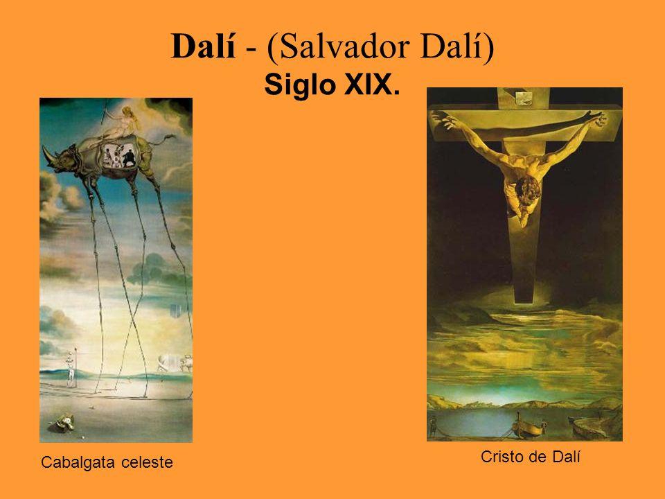 Dalí - (Salvador Dalí) Siglo XIX. Cabalgata celeste Cristo de Dalí