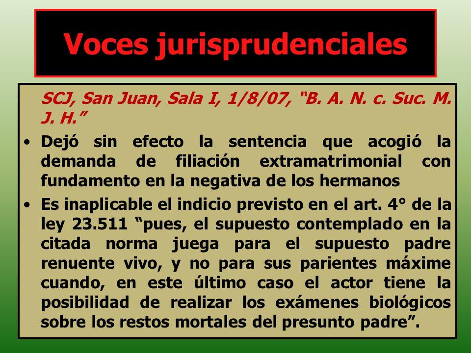 SCJ, San Juan, Sala I, 1/8/07, B. A. N. c. Suc. M. J. H. Dejó sin efecto la sentencia que acogió la demanda de filiación extramatrimonial con fundamen