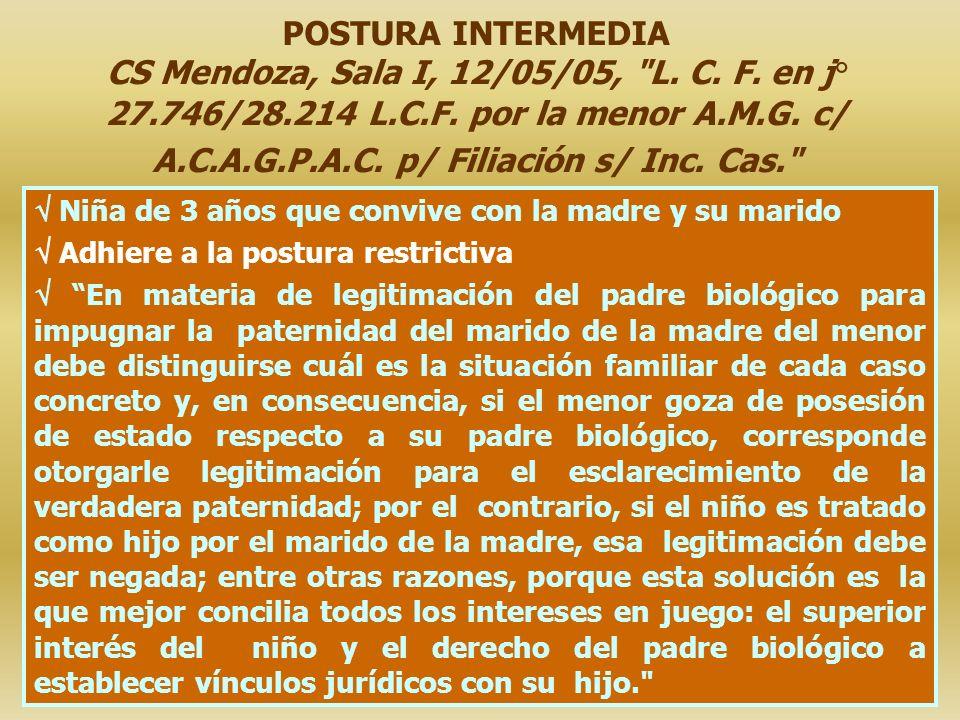 POSTURA INTERMEDIA CS Mendoza, Sala I, 12/05/05,