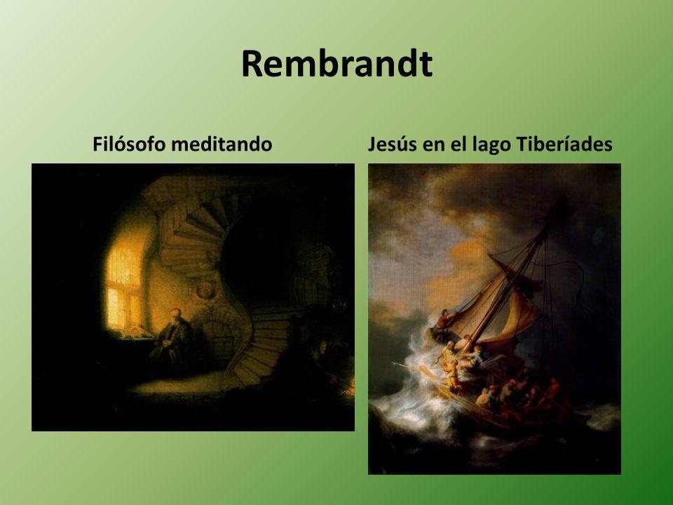 Rembrandt Filósofo meditandoJesús en el lago Tiberíades