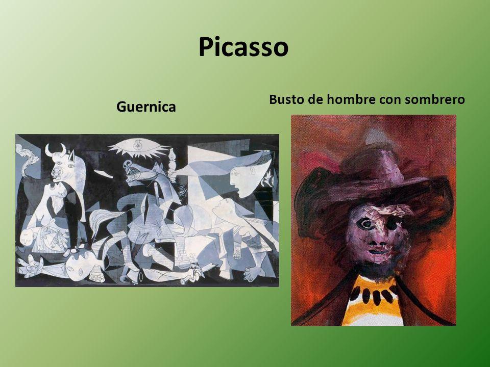 Picasso Guernica Busto de hombre con sombrero
