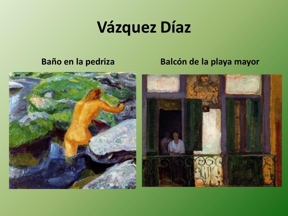 Vázquez Díaz Baño en la pedrizaBalcón de la playa mayor