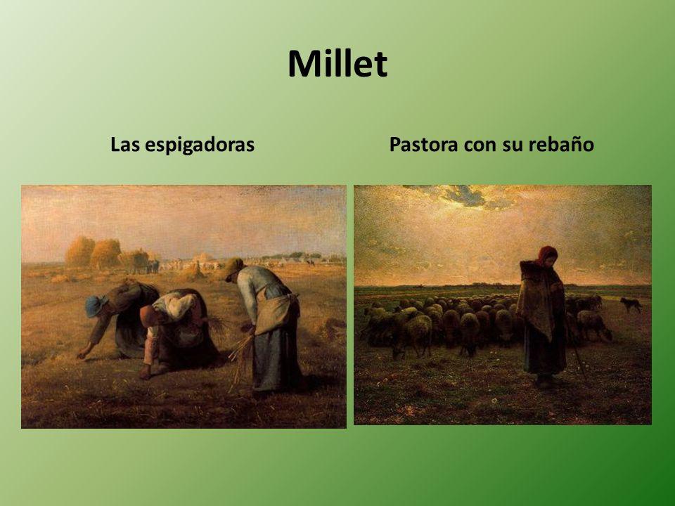 Millet Las espigadorasPastora con su rebaño
