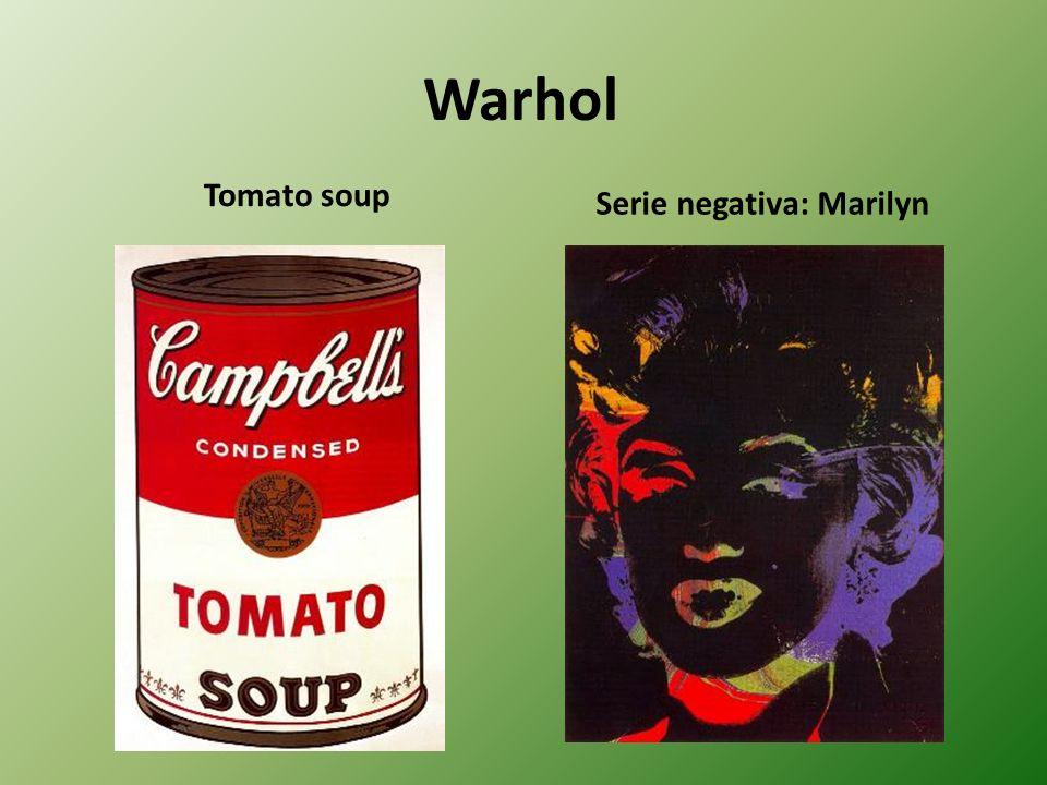 Warhol Tomato soup Serie negativa: Marilyn