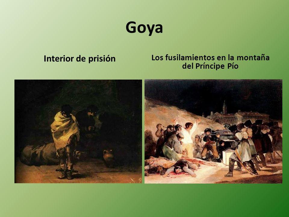 Goya Interior de prisión Los fusilamientos en la montaña del Príncipe Pío