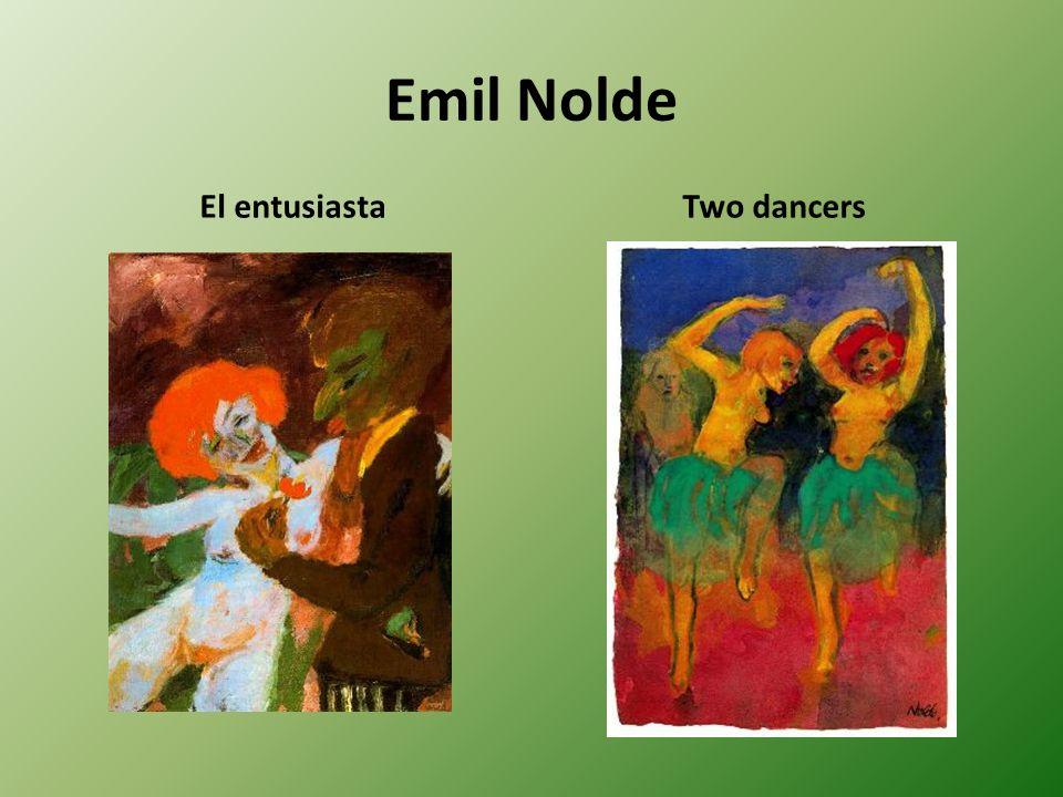 Emil Nolde El entusiastaTwo dancers
