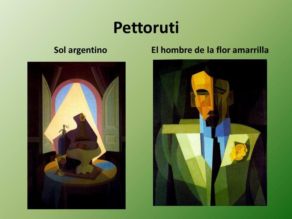 Pettoruti Sol argentinoEl hombre de la flor amarrilla