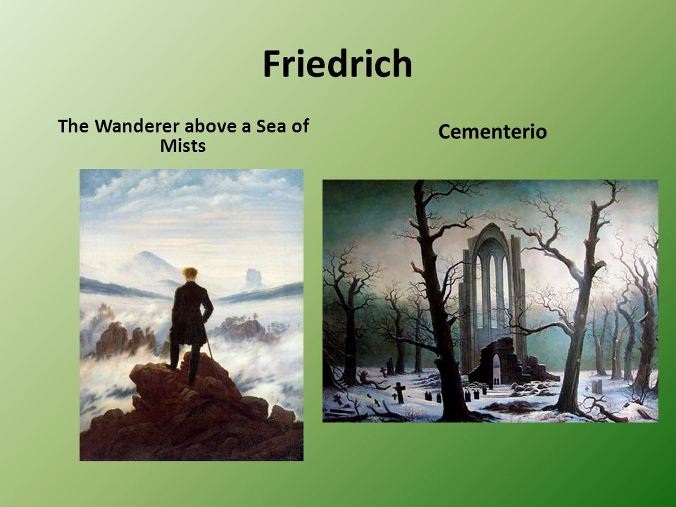 Friedrich The Wanderer above a Sea of Mists Cementerio