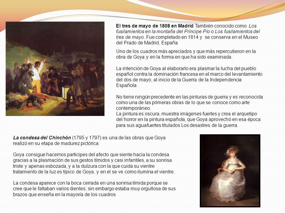 El tres de mayo de 1808 en Madrid También conocido como Los fusilamientos en la montaña del Príncipe Pío o Los fusilamientos del tres de mayo. Fue com