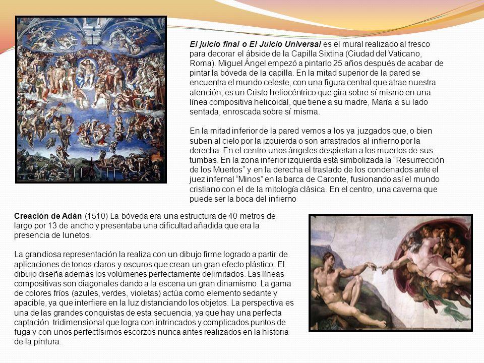 El juicio final o El Juicio Universal es el mural realizado al fresco para decorar el ábside de la Capilla Sixtina (Ciudad del Vaticano, Roma). Miguel