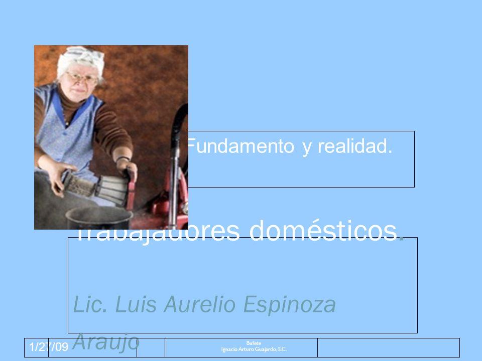 1/27/09 Jurisprudencia Bufete Ignacio Arturo Guajardo, S.C.