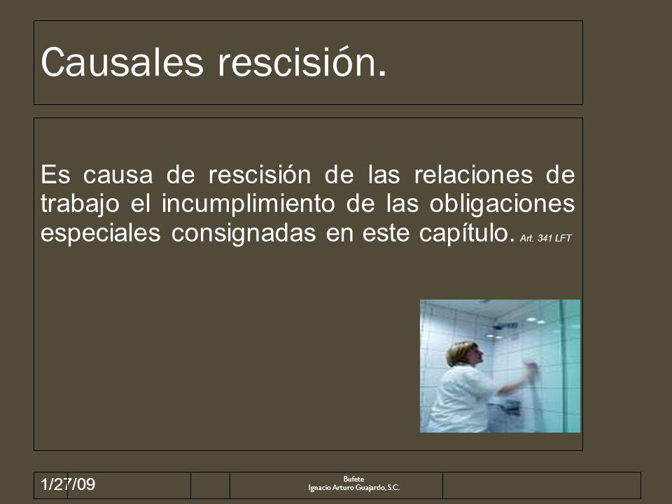 1/27/09 Causales rescisión.