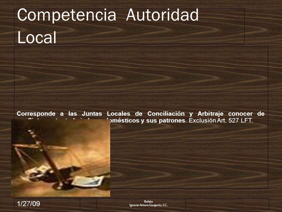1/27/09 DOMESTICOS.RESCISION DE LA RELACION LABORAL POR FALTA DE PAGO DEL SALARIO MINIMO GENERAL.