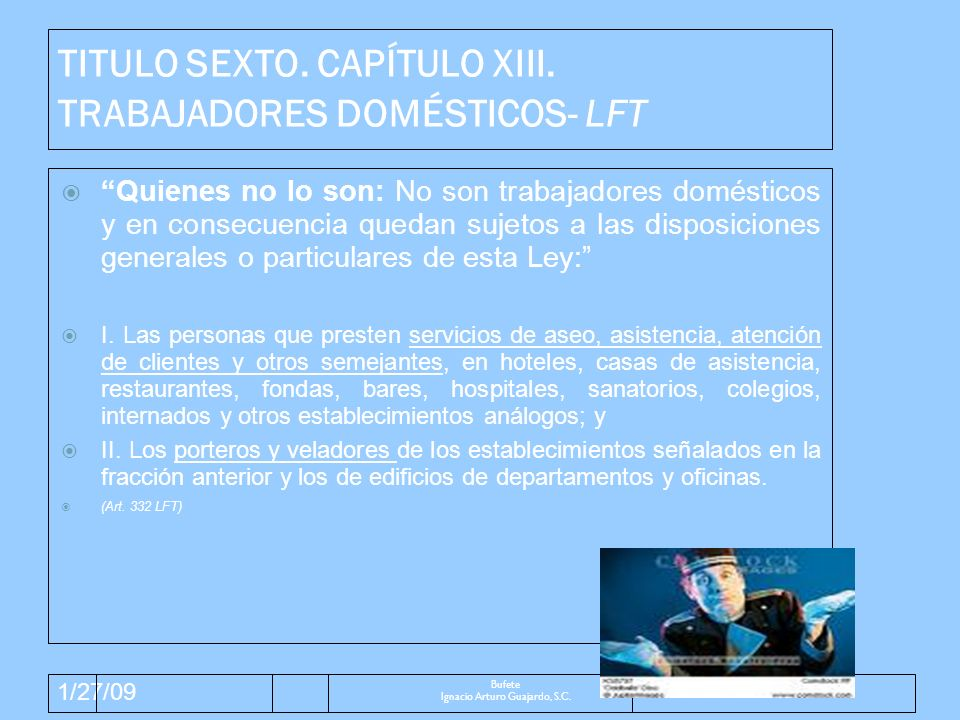 1/27/09 Exclusiones: Participación Utilidades.ARTÍCULO 127.