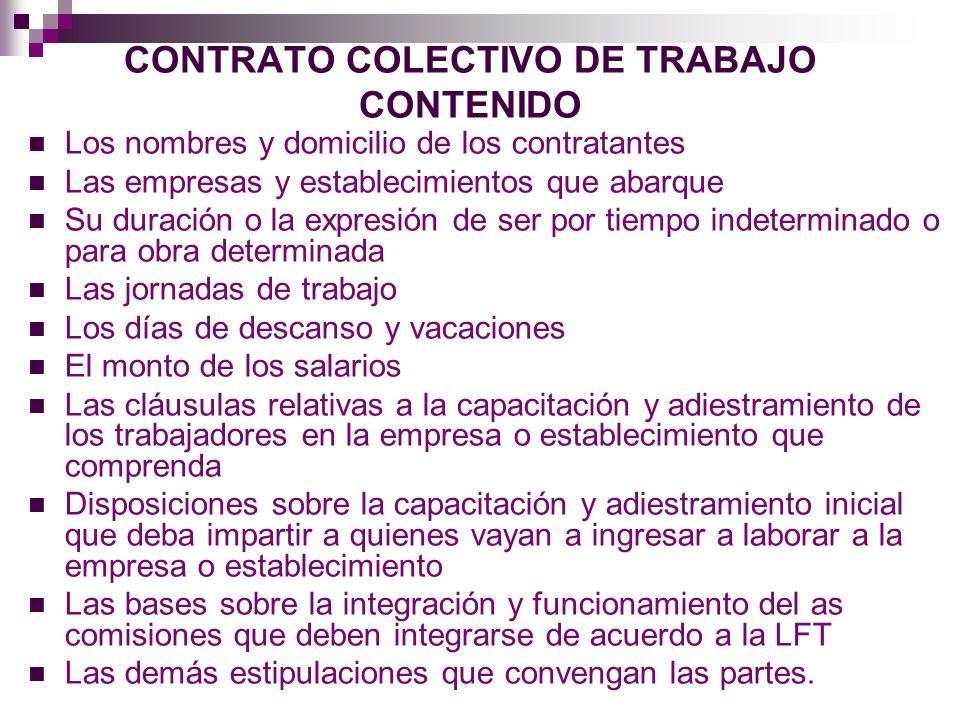CLAUSULAS Cláusula de Admisión y de Exclusión Podrá estipularse en el contrato colectivo que el patrón admita únicamente a trabajadores que sean miembros del sindicato.