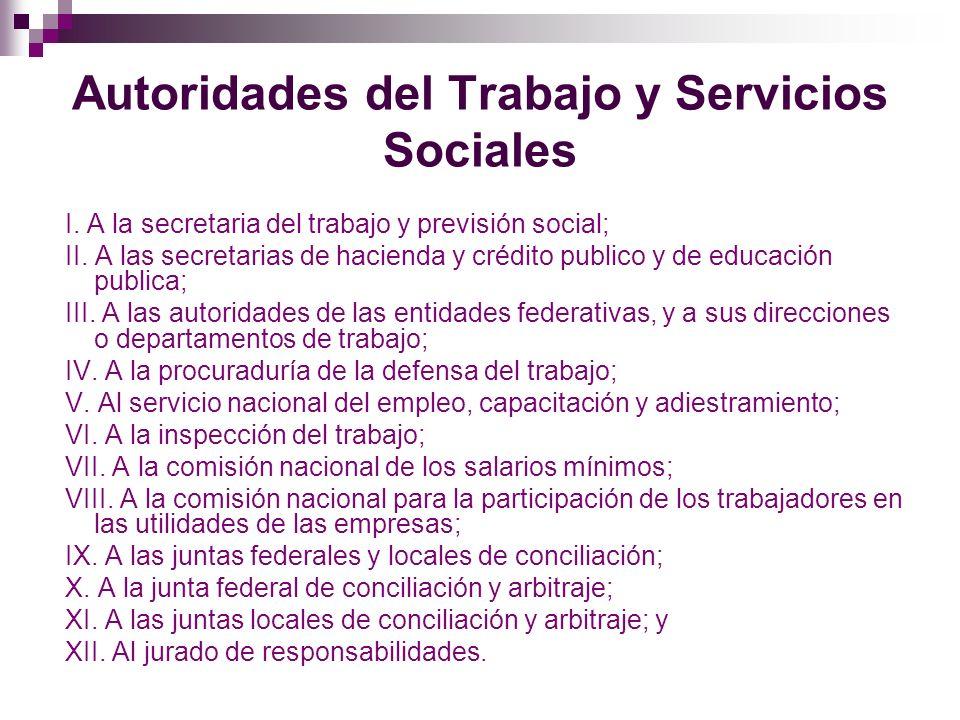 Procuraduría de la Defensa del Trabajo La procuraduría de la defensa del trabajo tiene las funciones siguientes: I.